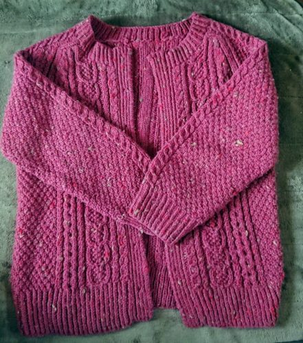 アランのカーディガン 私の【手編み】
